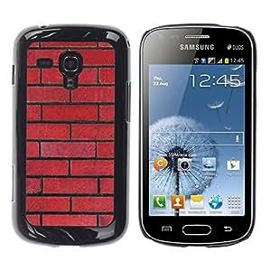 Be Good Phone Accessory // Dura Cáscara cubierta Protectora Caso Carcasa Funda de Protección para Samsung Galaxy S Duos S7562 // Wall Red Rebel Pattern Law Floyd