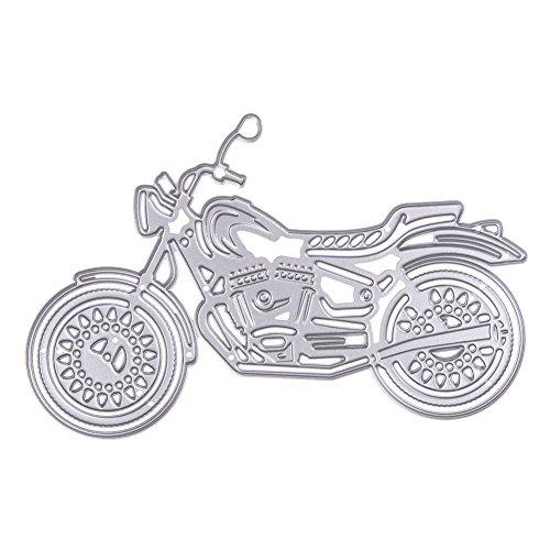 Whitelotous Cutting Dies Cut Dies Stencil Metal Template Mould for DIY Scrapbook Album Paper Card (Motorcycle)