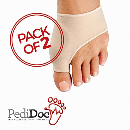 Bunion Corrector and Bunion Relief Sleeve with Gel Pad Cushion Bunion Protector - Protection and Treatment for Hallux Valgus Bunion Pain (1 Pair)
