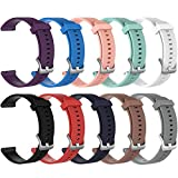 ZSZCXD Band for Garmin Vivoactive 3/Vivomove HR, Silicone Replacement WatchBand Strap Band Wristband for Garmin Vivoactive 3 and Garmin Vivomove HR (10Pcs, Small)