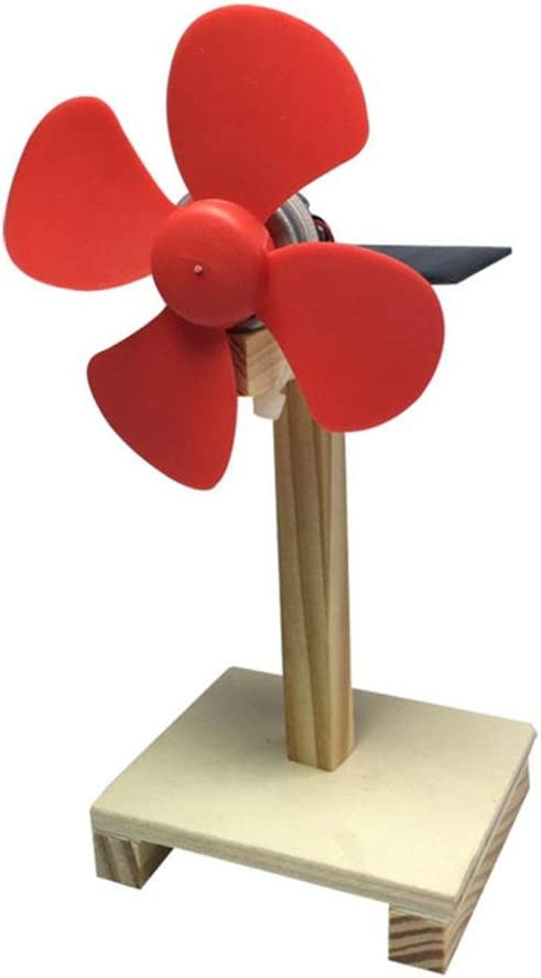 Domybest Ventilador solar giratorio de madera para montar ...