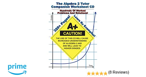 Amazon.com: Algebra 2 Tutor Companion Worksheet CD: Jason Gibson ...