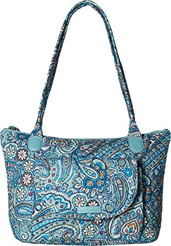 East West Lined Tote - Vera Bradley Women's Carson East/West Tote Daisy Dot Paisley One Size