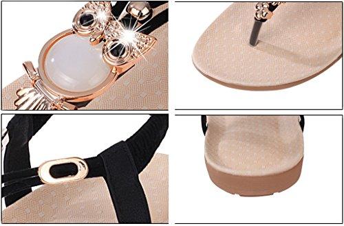 NEWZCERS - Sandalias de vestir de sintético para mujer negro
