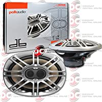Polk Audio 6x9 inch 6 x 9 3-way Car Audio Coaxial Speakers Pair