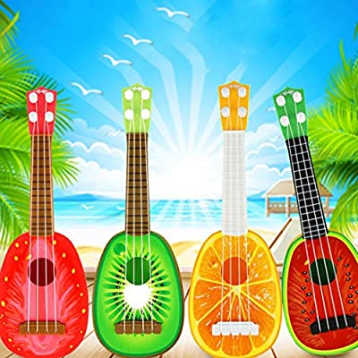 ebera Fruit Children Small Guitar Toy Baby Play Music Toy Baby Play Music Ukulele Educational Learning Musical Instrument Toy,Color 4: Home & Kitchen