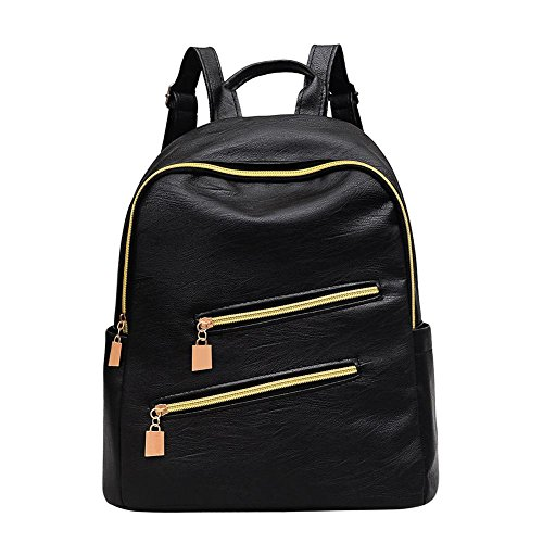 Leather Bags Patent akaddy Traval Shoulder Sport Zipper for School Backpacks Women ax1qBwUIwS