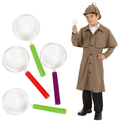 Toy Cubby Kids Toddler Plastic Colorful Party Favors Magnifying Glasses - 24 (Plastic Magnifying Glass)