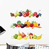 fruit border sticker - Wallmonkeys Fruits Vegetables and Berries Wall Decal Sticker Set Individual Peel and Stick Graphics on a (24 in H x 24 in W) Sticker Sheet WM138735