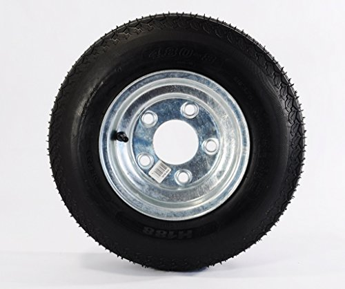 Load Star 4.80X8 Loadstar Trailer Tire LRB on 5 Bolt Galvanized Wheel