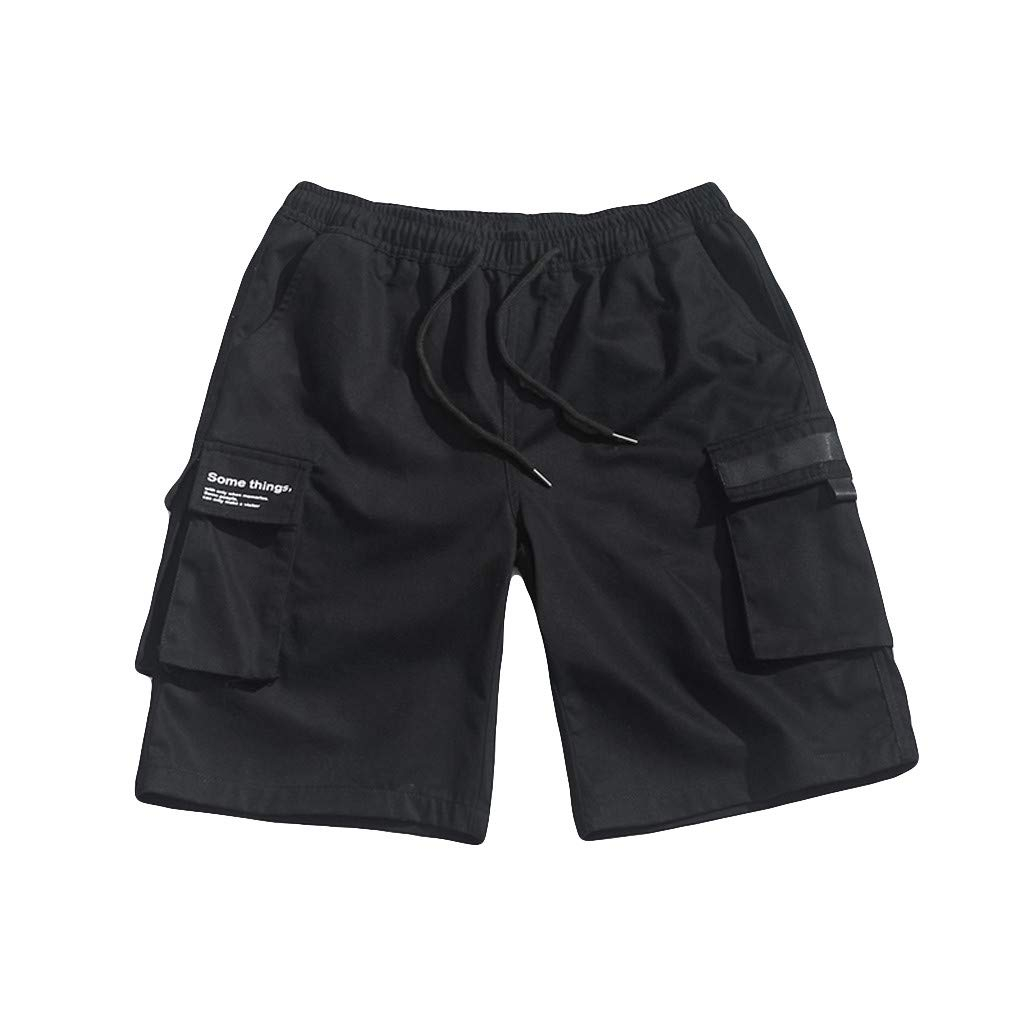 Answerl☀ Mens Outdoor Lightweight Hiking Shorts Quick Dry Shorts Sports Casual Drawstring Shorts with Pocket