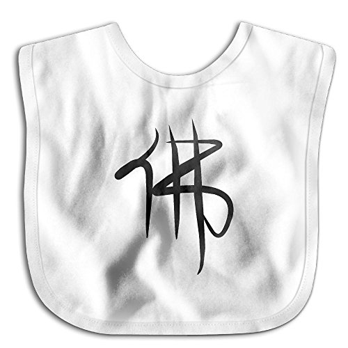 Comfortable Soft Infant Chinese Characters Meaning Buddha Drooler Bib - Bib Easily Wipes Clean! White (Construction Worker Costume Images)