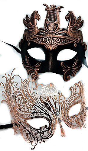 Rose  (His And Hers Masquerade Ball Masks)