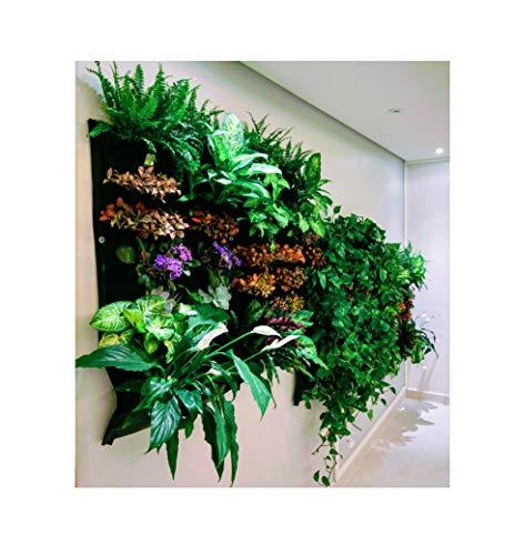 12 Pocket Indoor Waterproof Vertical Living Wall Planter (Vertical Wall Planter Kit)