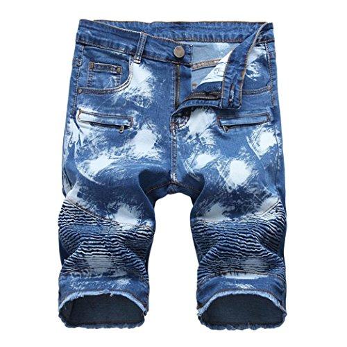 Lucaso メンズ ハーフパンツ ショート 人気 デニム 筒型ズボン ゆったり 通気性 カジュアル おしゃれ 大きいサイズ ビーチ 普段着 ストリート バスケ ゴルフ フィットネス スポーツ ファッション
