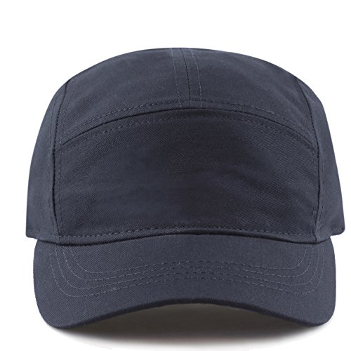THE HAT DEPOT Exclusive Made in USA Cotton 5 Panel Unstructured Outdoor Cap (Navy)