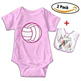 Best Bracelets 2 Piece For Boys - Cami I Love Volleyball Baby Short Sleeve Ba Review
