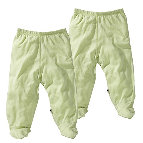 Babysoy Comfy Basic Footie Pants Unisex 2 Packs (6-12 Months, Tea) by Babysoy