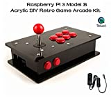 CQRobot Raspberry Pi 3 Model B - Acrylic DIY Retro Game Arcade Kit.