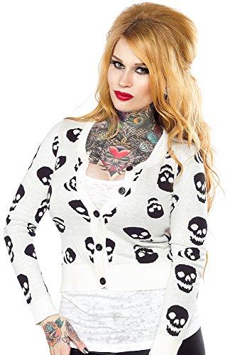 Sourpuss-Lust-for-Skulls-Cardigan-White-S