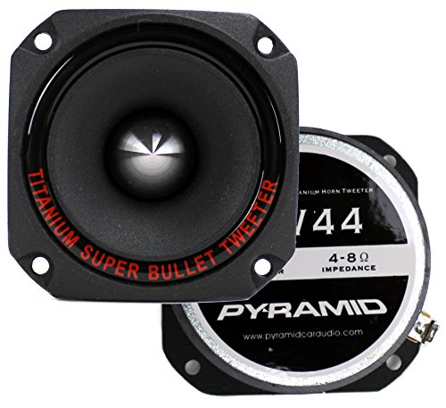 2) New Pyramid TW44 1'' 600W Heavy Duty Titanium Dome Bullet Car Super Tweeters by Pyramid