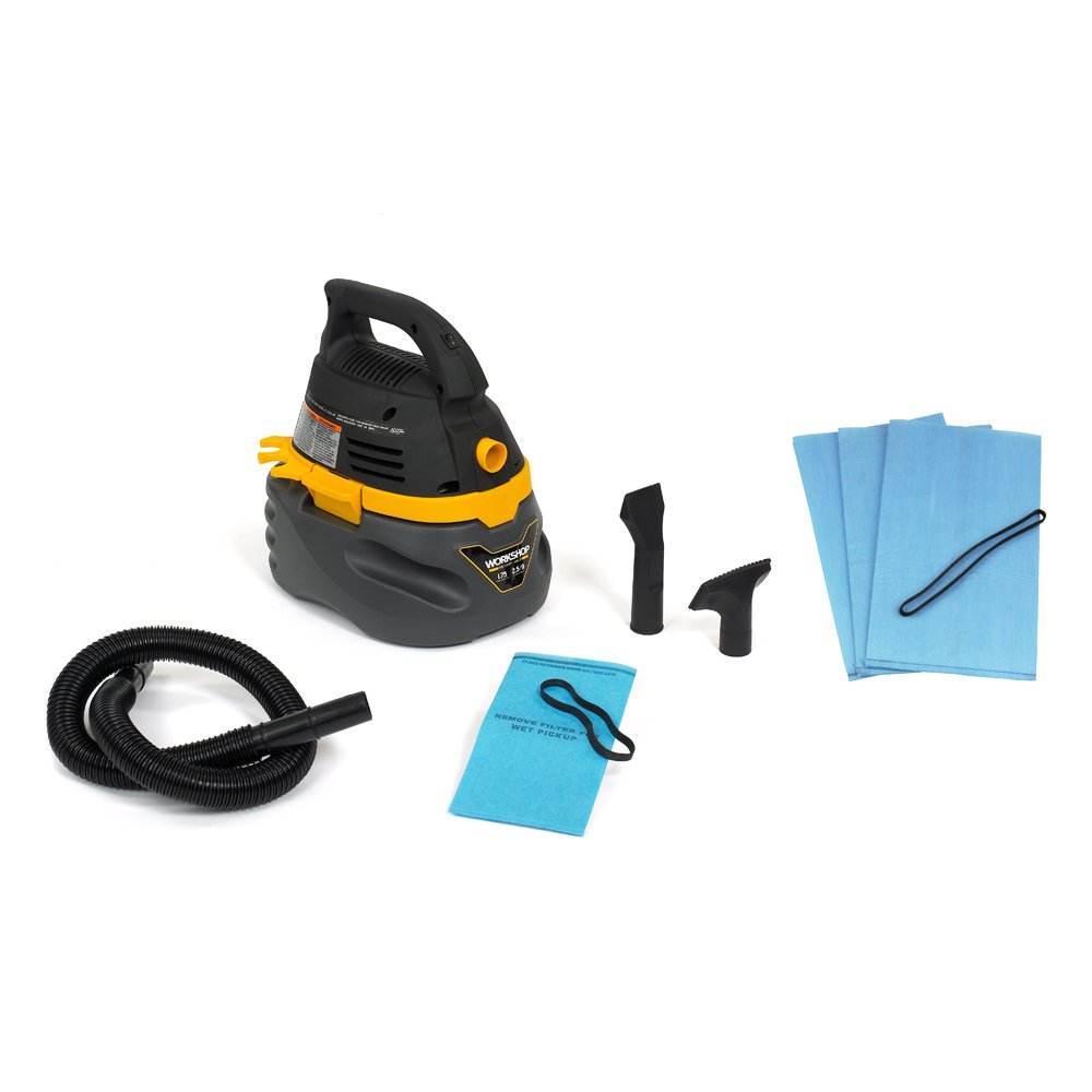 WORKSHOP Wet/Dry Vacs WS0250VA Compact and Portable Wet Dry Shop Vacuum with Dusting Brush