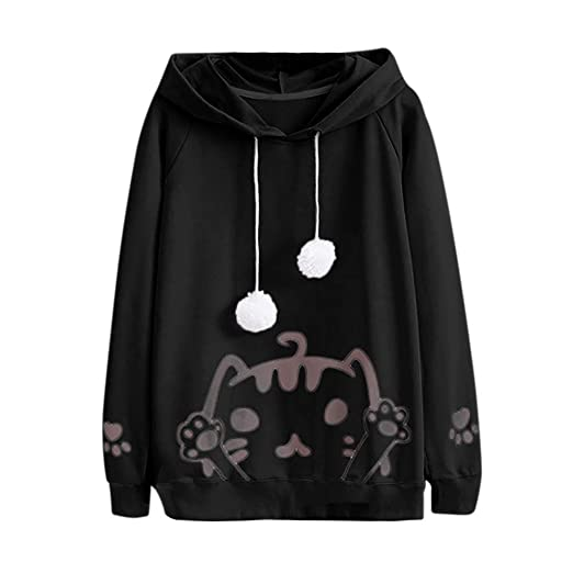 60d89978a Amazon.com  Gyoume Teen School Girls Hoodie Coats Women Pullover ...