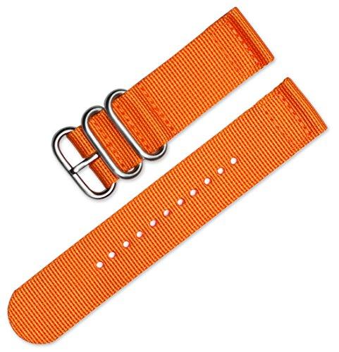 deBeer 20mm Military Ballistic Nylon 2-Piece Watch Band/Watch Strap - Orange