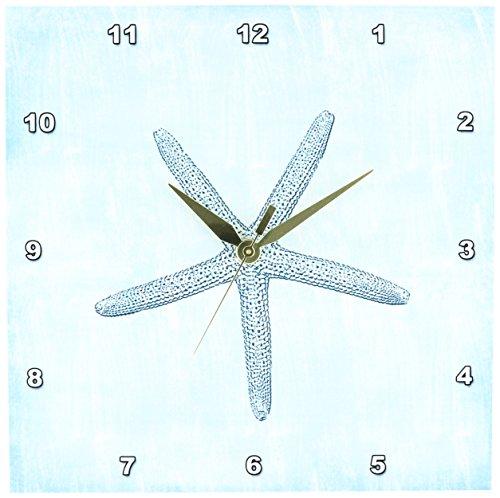 dpp178911-PS-Beach-Aqua-Starfish-Abstract-beach-theme-Wall-Clocks
