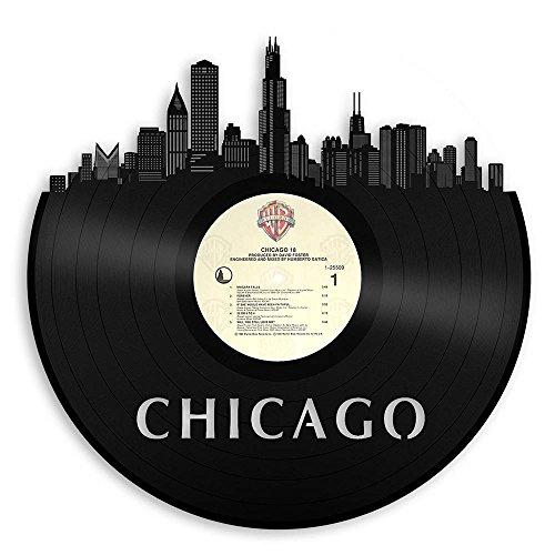 VinylShopUS - Chicago Illinois Skyline Vinyl Wall ()