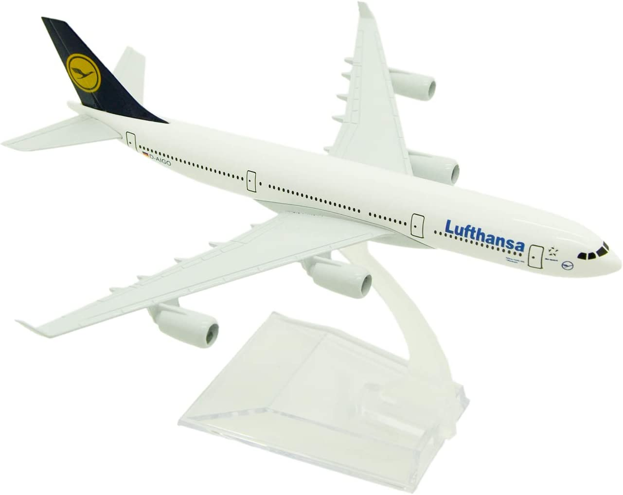 16cm Alloy Metal Germany Air Lufthansa A340 Airlines Airplane Model Lufthansa Airbus 340 Airways Plane Model Aircraft Kids Gifts (A340)