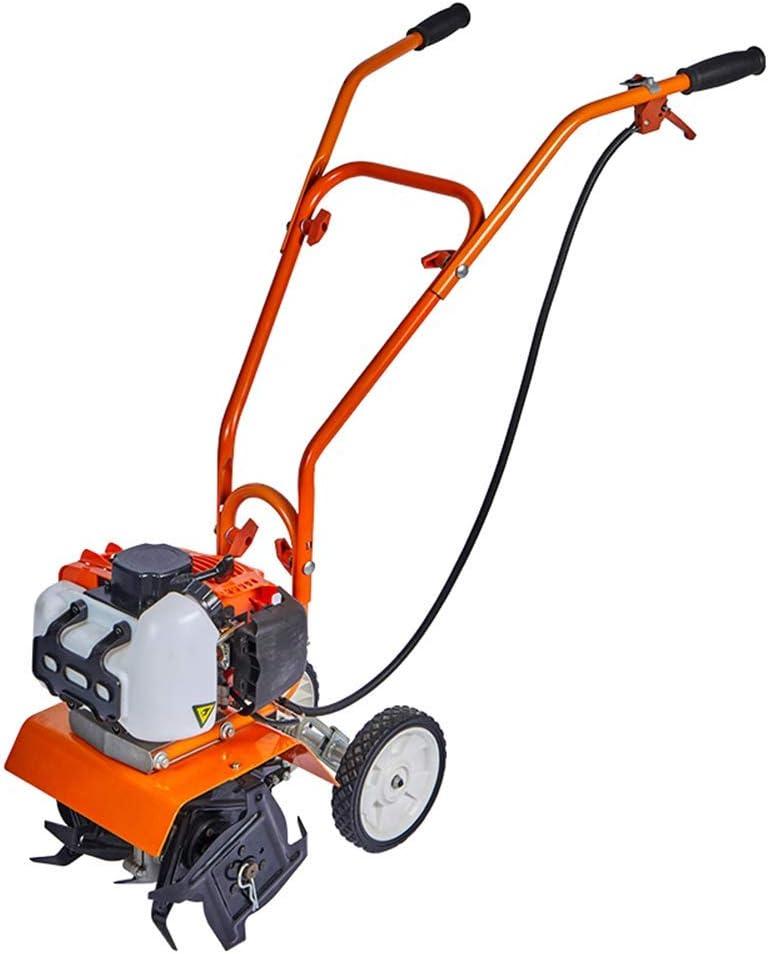 WAWZNN Escarificador de Gasolina Cultivador de jardín Cultivador de Suelo de jardín/Motocultor, Depting de Corte de 9cm, Interruptor de Seguridad, para césped, huerto y parcelas