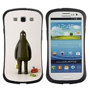 "Pulsar iFace Series Tpu silicona Carcasa Funda Case para SAMSUNG Galaxy S3 III / i9300 / i747 , Ladrón Robot Fat Dinamita Cash Money"""