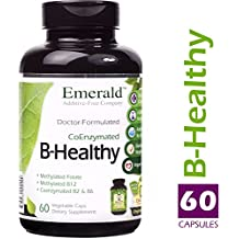 Emerald Laboratories - B Healthy - with L-5 Methyltetrahydrofolate Coenzymated Folic Acid - 60 Vegetable Capsules