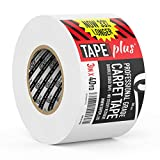 home depot rugs Professional Rug Tape - 3 Inch by 40 Yards (120 Feet! - 2X More!) - Double Sided Non-Slip Carpet Tape - Premium White Finish - Perfect Gripper for Holding Indoor Rugs in Place
