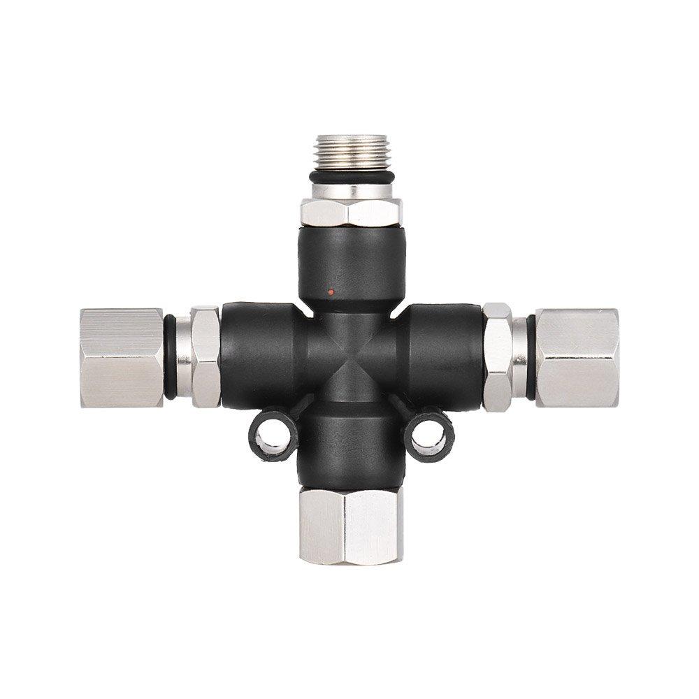 Aibecy 3-Wege-Airbrush-Luftschlauch-Verteiler-Splitter mit 1//8 BSP-Verschraubungen und Stopfen