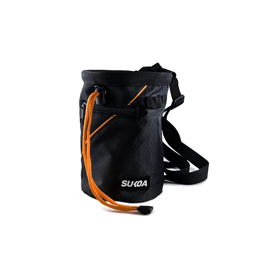 Sukoa Chalk Bag with Quick Clip Belt and 2 Large Zippered Pockets