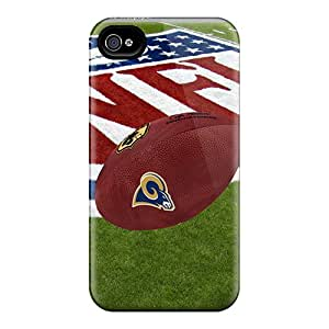 Scratch Protection Hard Phone Covers For Iphone 6 With Allow Personal Design HD St. Louis Rams Image JonBradica