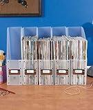 Set of 5 Clear Plastic Brights File Folder Paper Magazine Holder Office Desk Storage Organizer