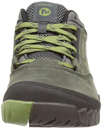 Merrell Annex - Zapatillas de senderismo, para hombre Verde (castle rock/calliste green)