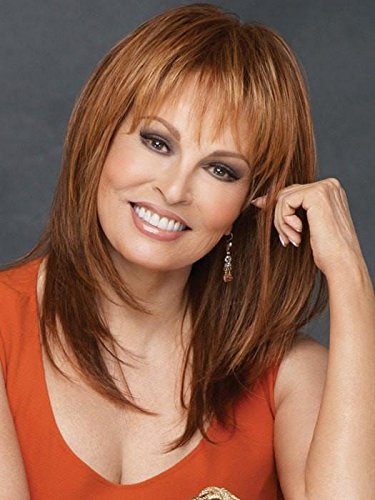 Enigma Capless Wig  Color R1621S+ GLAZED SAND - Raquel Welch Wigs 10'' Long Synthetic Women's Blunt Bang Jagged Ends Memory Cap Base by Unknown
