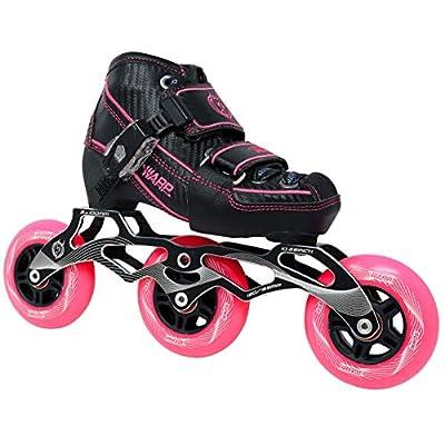 Warp Children's Inline Speed Skates - Adjustable Kids Rollerblades - Roller Blades for Boys and Girls - Indoor and Outdoor Childrens Roller Skates - Size Adjustable Comfort for Your Kid - Youth Skates : Sports & Outdoors