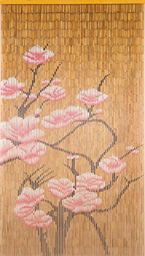 BeadedString Natural Bamboo Wood Beaded Curtain-90 Starnds-80 High-Boho
