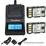 Kastar Fast Charger and Battery 2-Pack for JVC BN-VF808 BN-VF808U and GZ-MG177 GZ-MG230 GZ-MG255 GZ-MG275 GZ-MG330 GZ-MG335 GZ-MG340 GZ-MG360 GZ-MG365 GZ-MG430 GZ-MG435 GZ-MG465 GZ-MG555 GZ-MG575