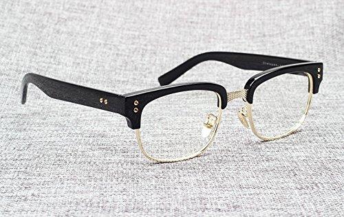 de gafas Beckham marca Optical negro Oculos diseño The Aprigy con de brillante vintage dorado Fashion Gafas dorado la sol de brillante Myopia Sol Grau de Statesman marco negro wxzvAq