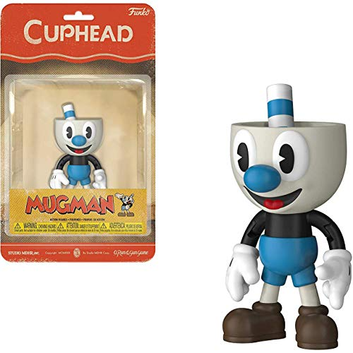 Mugman: Funko Cuphead x Mini Action Figure + 1 Video Games Themed Trading Card Bundle [33420]