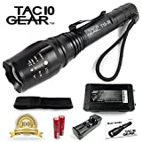 TAC10-CREE-XML-T6-GEAR-1200-Lumens-Water-Resistant-LED-Tactical-Flashlight-with-Rechargeable-Li-Ion-Batteries-Charger-Holster-and-Adjustable-Zoom-Focus