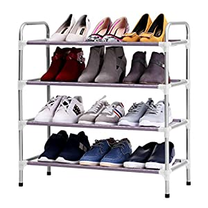 Finether Empilable Adjustable 4 Tier Porte Chaussures De Stockage