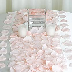 BalsaCircle 2000 Blush Silk Artificial Rose Petals Wedding Ceremony Flower Scatter Tables Decorations Bulk Supplies Wholesale