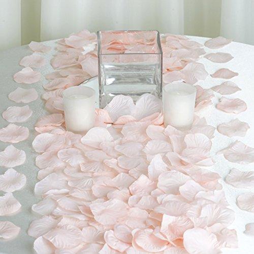 BalsaCircle 2000 Blush Silk Artificial Rose Petals Wedding Ceremony Flower Scatter Tables Decorations Bulk Supplies -